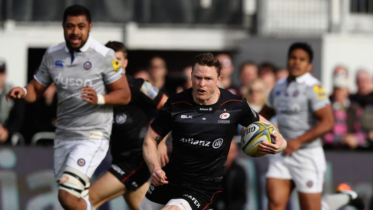 Chris Ashton breaks for Sarries against Bath