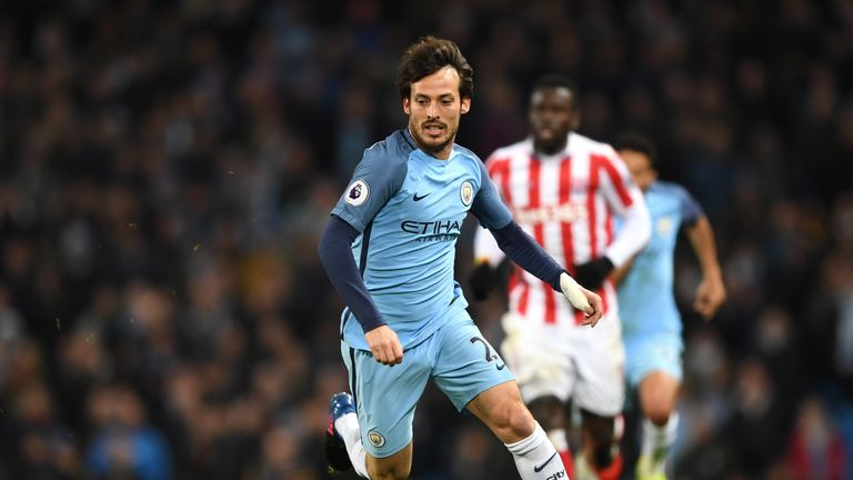David Silva came off the bench in City's 0-0 draw with Stoke