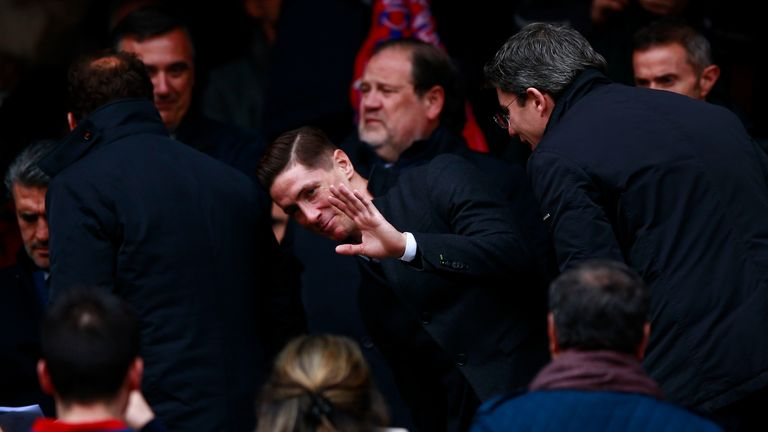 Fernando Torres was in the stands for Atletico Madrid's win over Valencia following his release from hospital