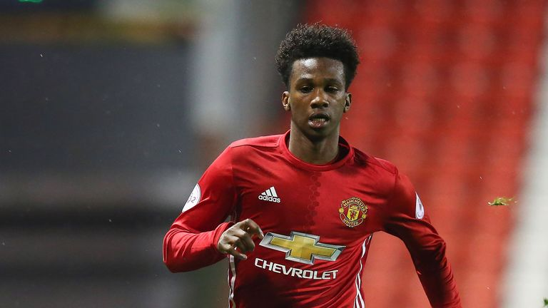 Joshua Bohui in action for Manchester United