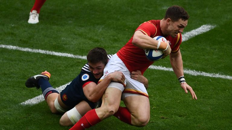 George North claimed he was bitten during the Six Nations match in France