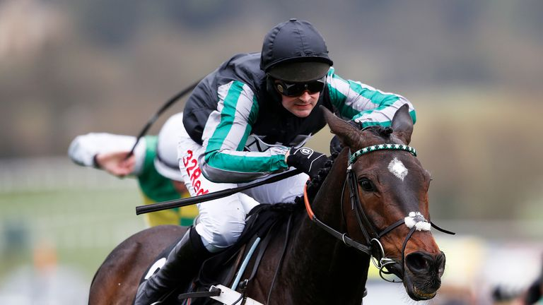 Nico de Boinville, ridng Altior, wins The Racing Post Arkle Challenge Trophy Novices' Steeple Chase at Cheltenham Festival