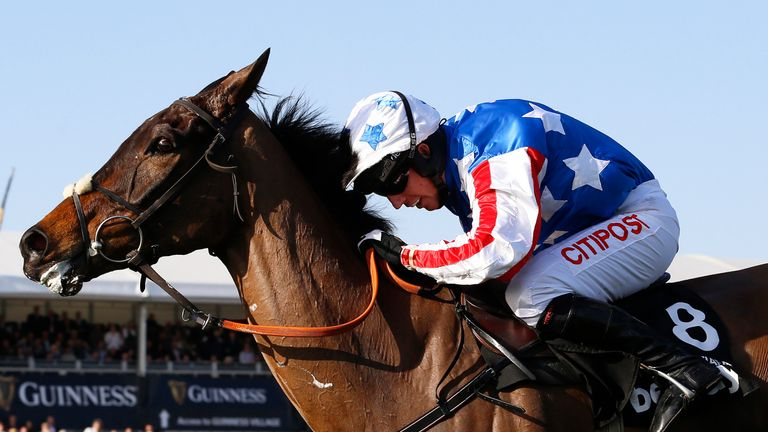 Special Tiara gets away from the last fence on his way to Champion Chase glory