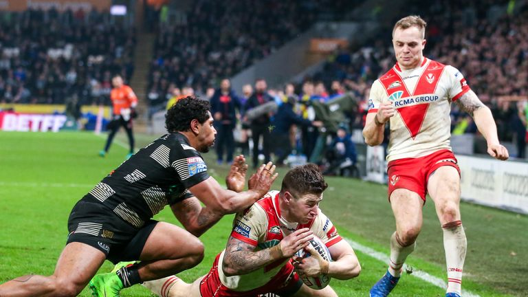 Mark Percival made his St Helens debut in 2013