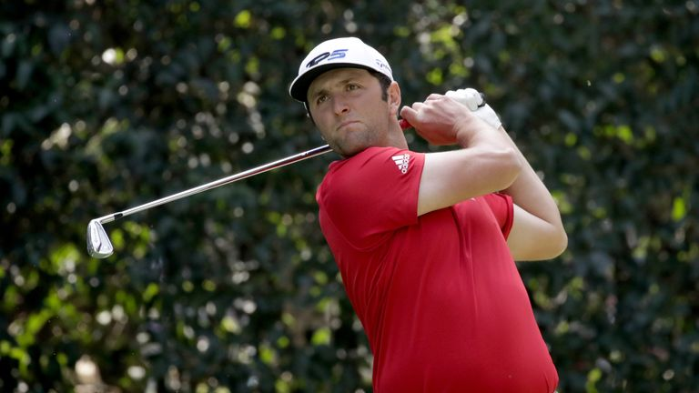 Jon Rahm was tied for the lead until making untimely mistakes at 16 and 17