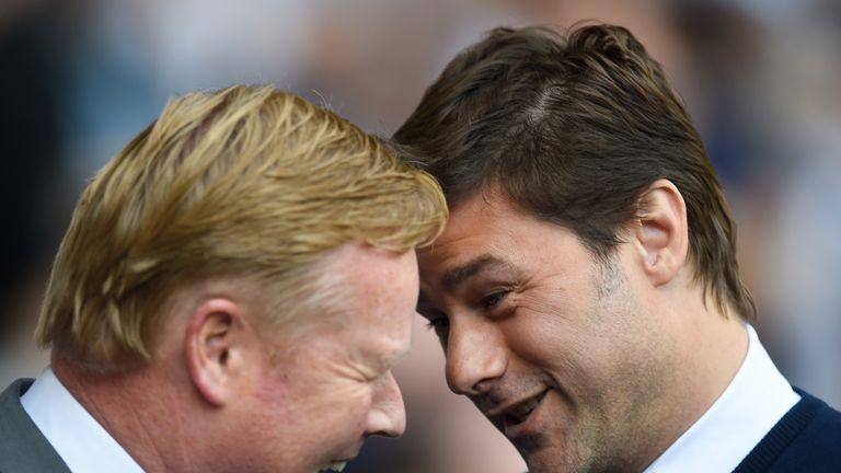 Ronald Koeman (left) replaced Mauricio Pochettino at Southampton before becoming Everton manager