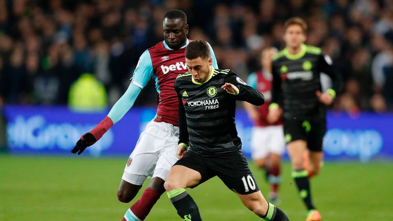 Cheikhou Kouyate has made 36 appearances for West Ham despite the injury