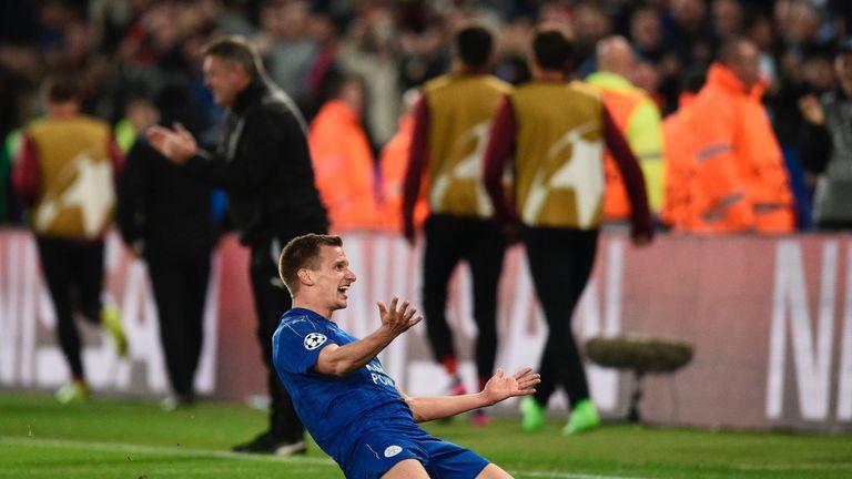Albrighton 's goal sparks wild celebrations at the King Power Stadium