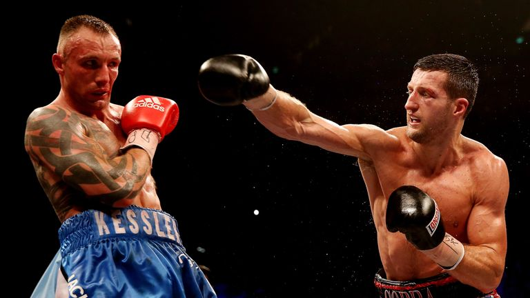 Carl Froch (right) and Mikkel Kessler fought twice with both men claiming victories