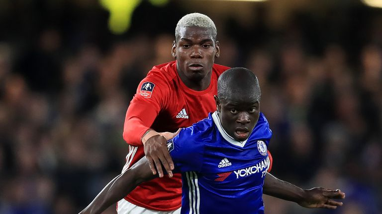 N'Golo Kante outshone Paul Pogba as Chelsea beat Manchester United 1-0 to reach the FA Cup semi-finals