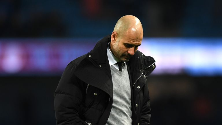 Pep Guardiola's Manchester City are 10 points off leaders Chelsea