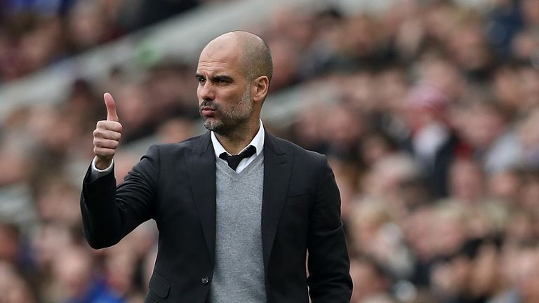 Pep Guardiola replaced Manuel Pellegrini in charge at Manchester City