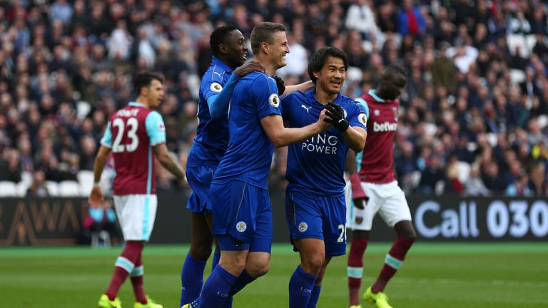Leicester have won all four games under Shakespeare since he took over from Claudio Ranieri
