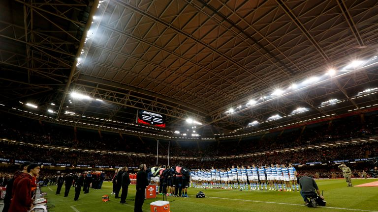 Wales played Argentina under the Principality Stadium roof last November