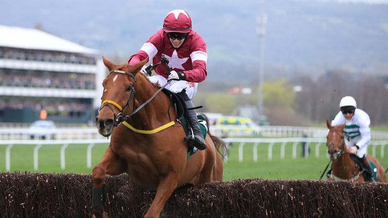 Road To Respect ridden by jockey Bryan Cooper on the way to winning the Brown Advisory & Merriebelle Stable Plate Handicap Chase during St Patrick's Thursd