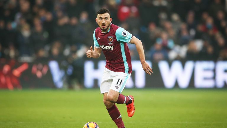 Robert Snodgrass in action for West Ham United