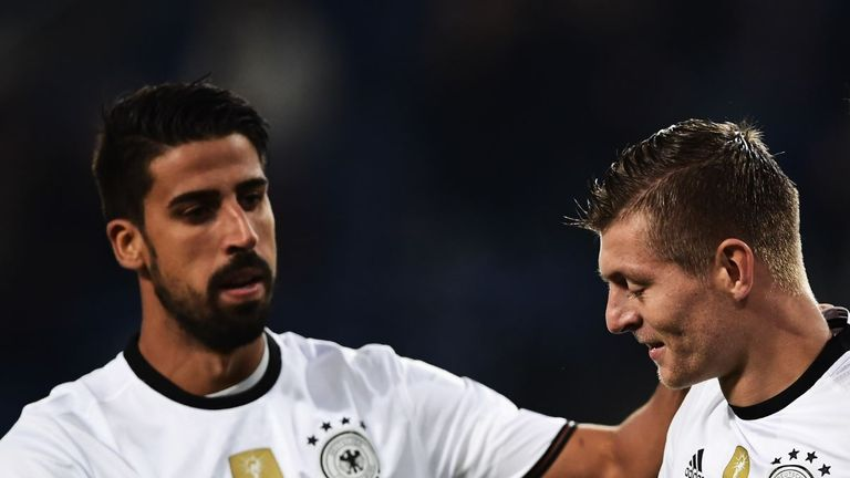 Sami Khedira and Toni Kroos in action for Germany