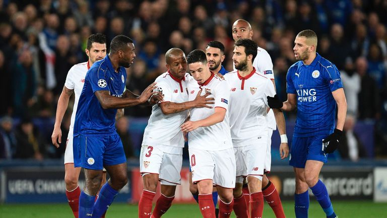 Nasri had to be escorted off the pitch by his teammates following the red card