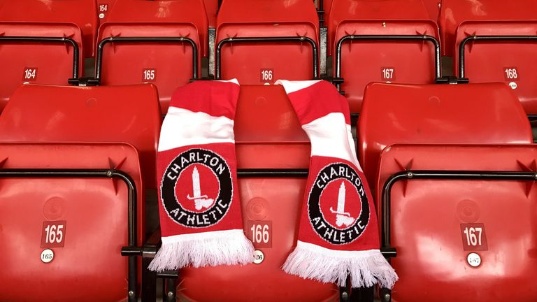 Charlton Athletic paid tribute to PC Keith Palmer, by placing a scarf over his seat at The Valley (credit: Charlton Athletic FC)