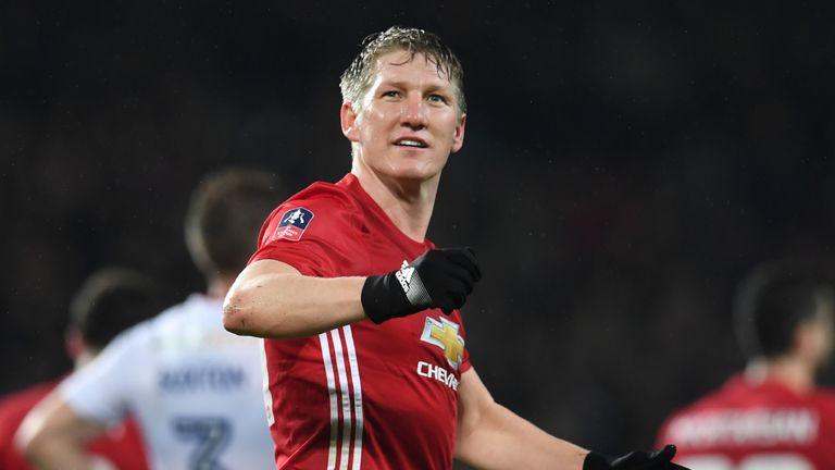 Schweinsteiger made just four appearances under Mourinho