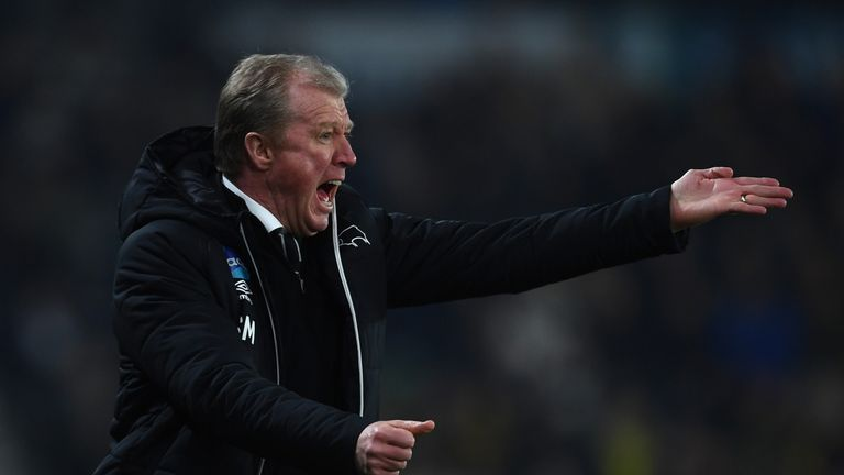 Steve McClaren was sacked by Derby for a second time in March last year
