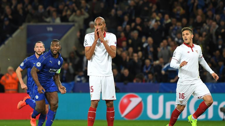 Sevilla were beaten by Leicester in the Champions League