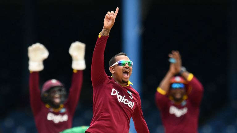 Sunil Narine was one of several mystery spinners taken early in the draft and will play for Oval Invincibles