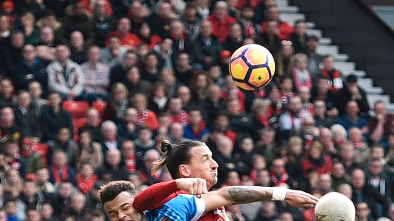 Zlatan Ibrahimovic caught Tyrone Mings with an elbow