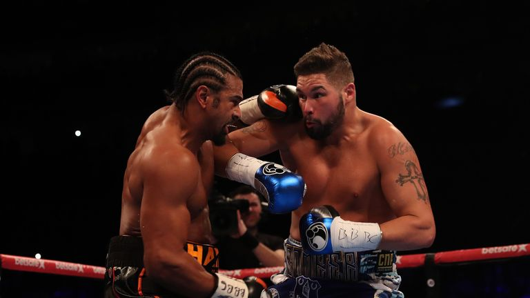 O2 BOXING 4-3-17.02,LONDON.PIC;LAWRENCE LUSTIG.Heavyweights.David Haye vs Tony Bellew
