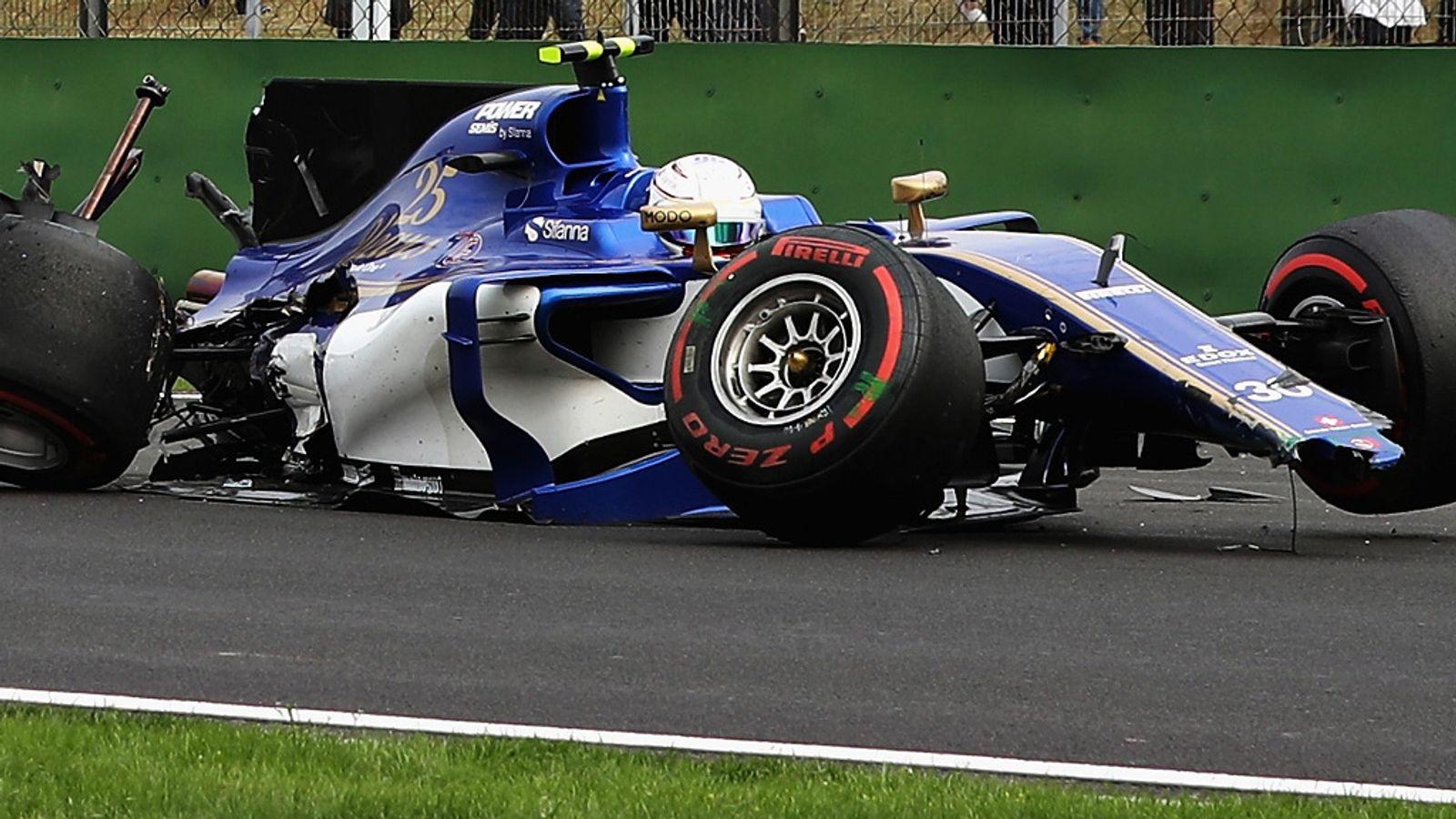 Chinese GP 2017 Qualifying: Antonio Giovinazzi crashes out ...