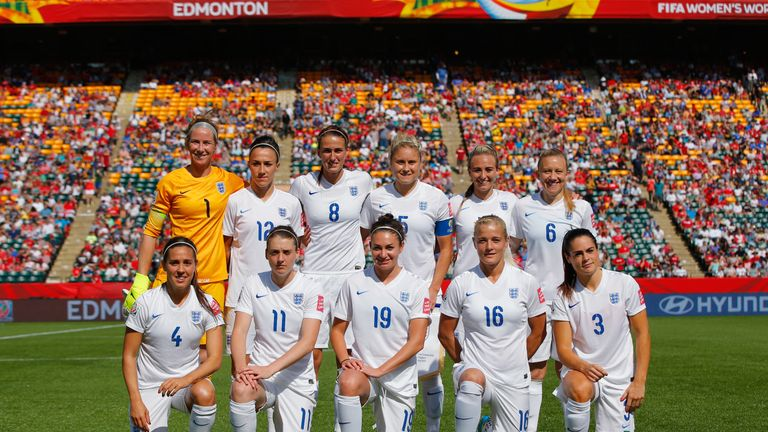 The England Women's team that started against Japan in 2015