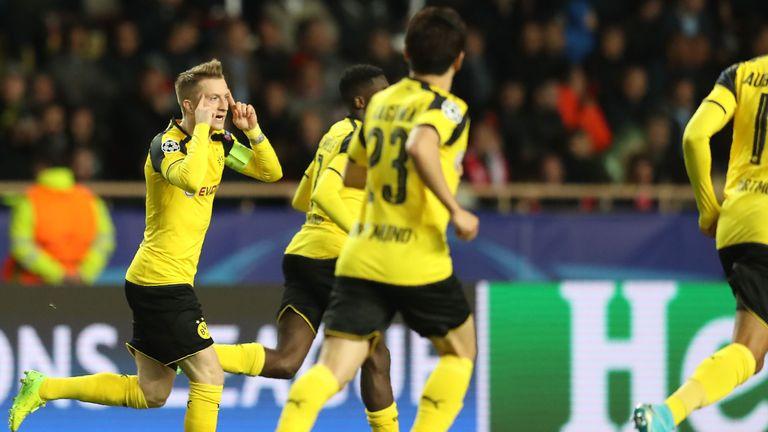 Marco Reus (L) pulled a goal back for the vistors