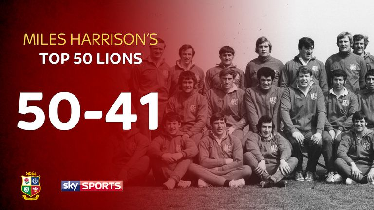 Miles Harrison picks out the first ten of his 50 greatest Lions