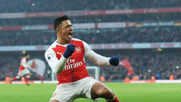Alexis Sanchez has become the first Arsenal player to score 20 league goals since Robin van Persie