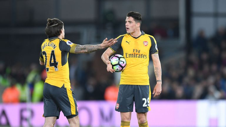Arsenal during the Premier League match between Crystal Palace and Arsenal at Selhurst Park on April 10, 2017 in London, England