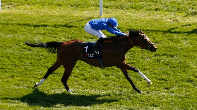 Barney Roy ridden by James Doyle wins the JLT Greenham Stakes