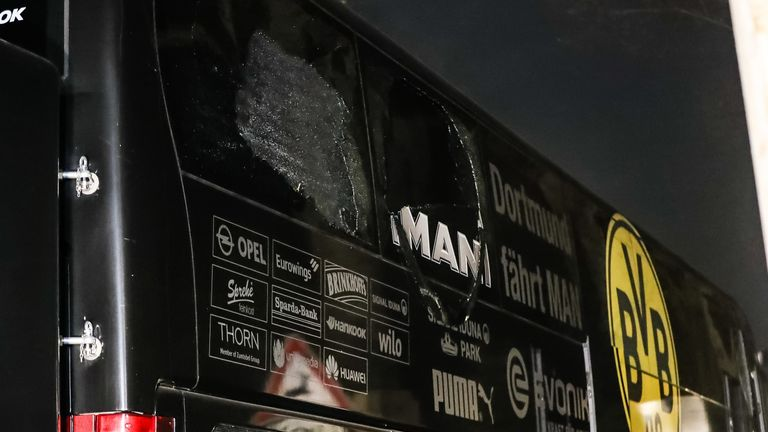 Borussia Dortmund's team bus was hit by an explosion