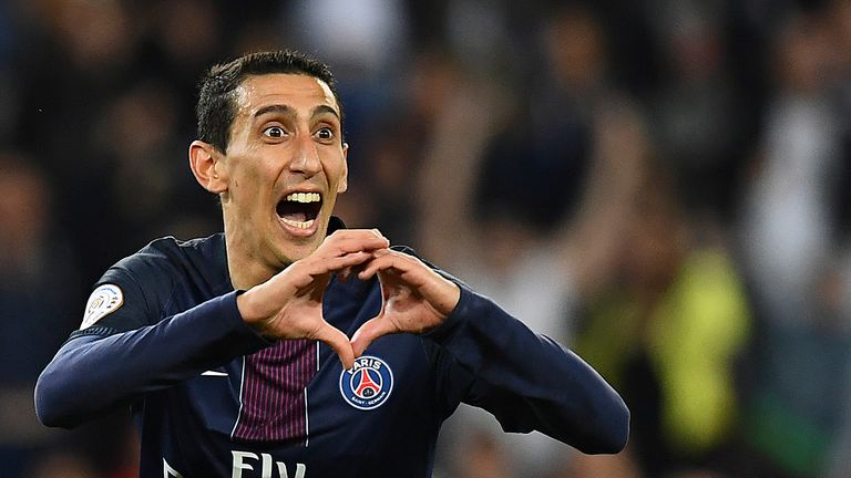 Angel Di Maria is tipped by the bookies to join Barcelona