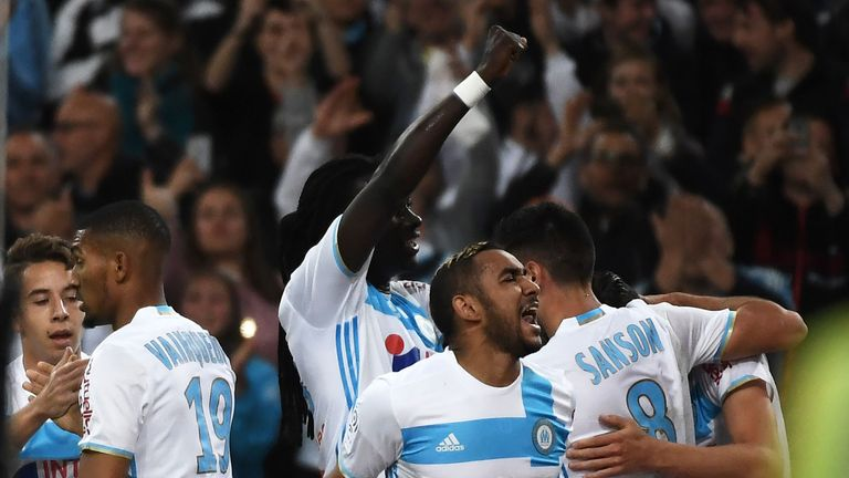 Payet celebrates a Marseille goal