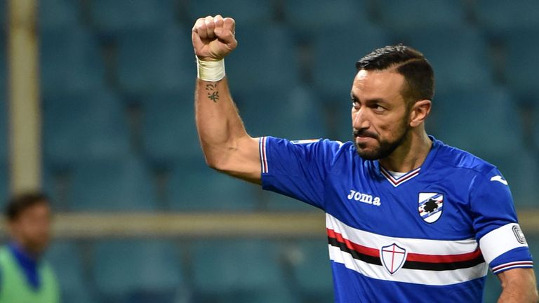 Fabio Quagliarella scored a late winner for Sampdoria at the San Siro