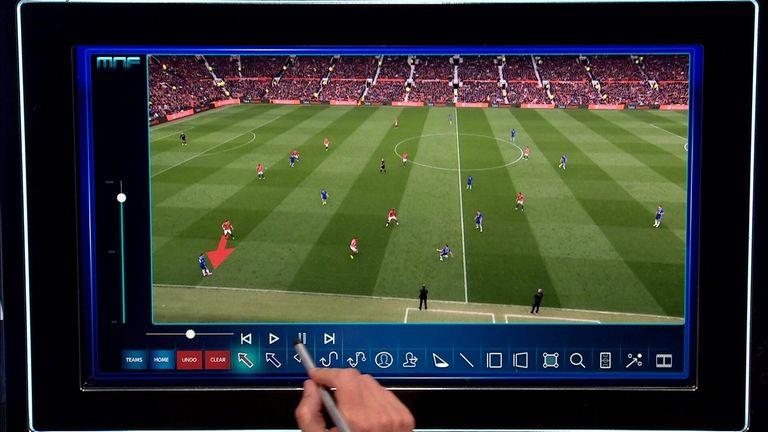 Gary Neville analysed Eden hazard's display on Monday Night Football