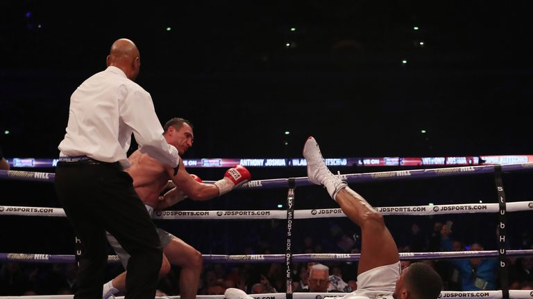Joshua had to get off the canvas in the sixth round