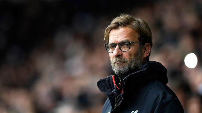 Jurgen Klopp looks on prior to the Premier League match between West Brom and Liverpool