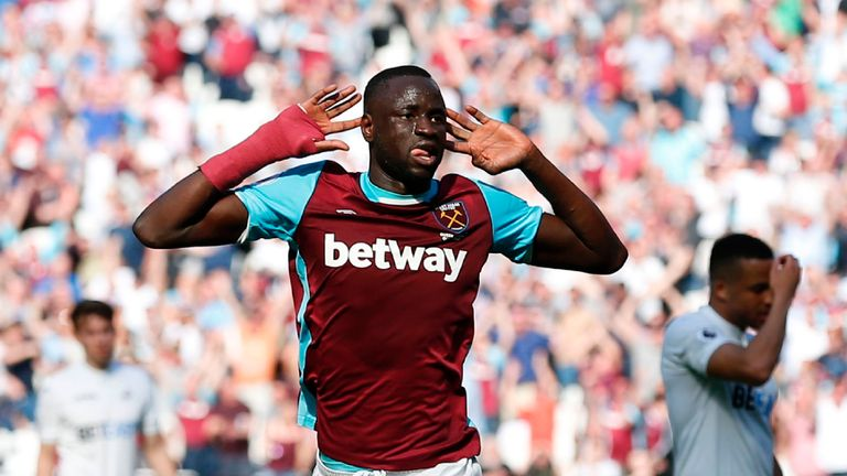 West Ham's Cheikhou Kouyate has been carrying the problem all season