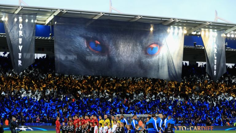There was an electric atmosphere at the King Power Stadium