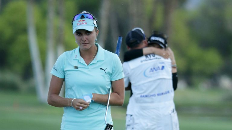Lexi Thompson narrowly missed out on victory in a play-off