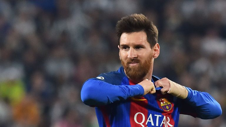 Lionel Messi during the Champions League quarter final first leg against Juventus