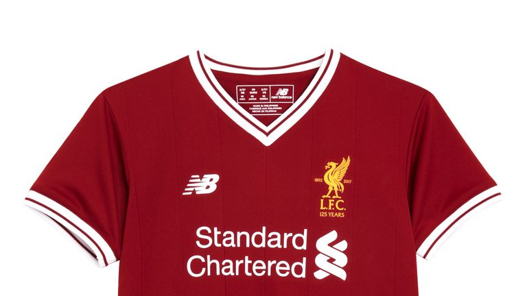 new arrivals cc27d c6293 Liverpool unveil new home kit for 125th anniversary season ...