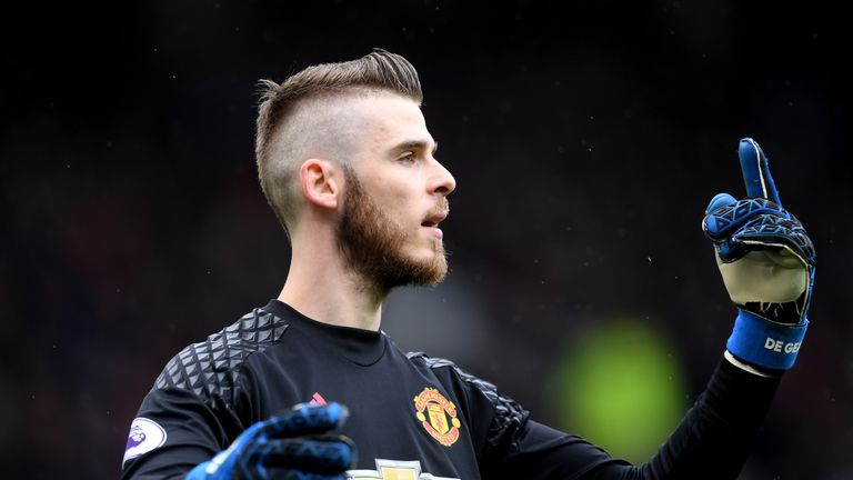 David De Gea of Manchester United looks on during the Premier League match between Manchester United and Chelsea at Old Trafford