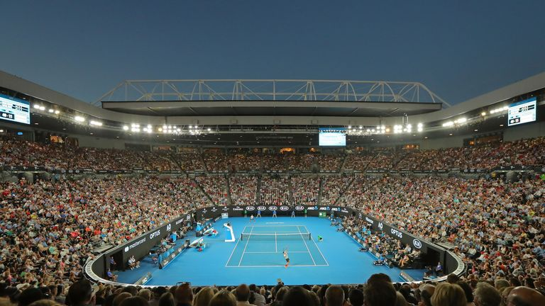 15,000 fans watched this year's Australian Open final at the  Rod Laver Arena